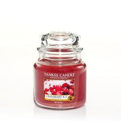 Candele profumate Yankee Candle color rosso  Cranberry Ice Medium Jar online - Prezzo:   24.90 €
