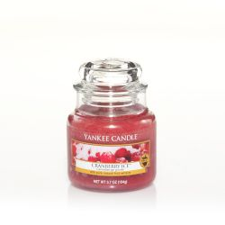 Candele profumate Yankee Candle color rosso  Cranberry Ice Small Jar online - Prezzo:   11.90 €