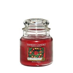 Candele profumate Yankee Candle color rosso  Red Apple Wreath Medium Jar online - Prezzo:   17.43 €