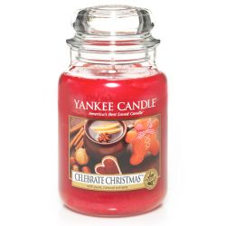 Candele profumate Yankee Candle color rosso  Christmas Memories Large Jar online - Prezzo:   29.90 €