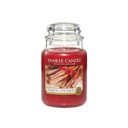 Candele profumate Yankee Candle color rosso  Sparkling Cinnamon Large Jar online - Prezzo:   29.90 €
