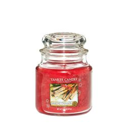 Candele profumate Yankee Candle color rosso  Sparkling Cinnamon Medium Jar online - Prezzo:   24.90 €