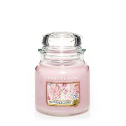 Candele profumate Yankee Candle color rosa  Snowflake Cookie Medium Jar online - Prezzo:   24.90 €