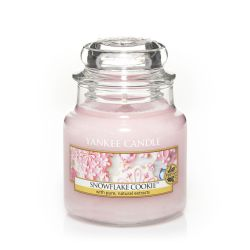 Candele profumate Yankee Candle color rosa  Snowflake Cookie Small Jar online - Prezzo:   11.90 €