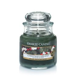 Candele profumate Yankee Candle color verde  Christmas Garland Small Jar online - Prezzo:   9.93 €