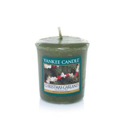 Candele profumate Yankee Candle color verde  Christmas Garland Votive online - Prezzo:   2.65 €