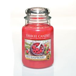 Candele profumate Yankee Candle color rosso  Red Raspberry Large Jar online - Prezzo:   29.90 €