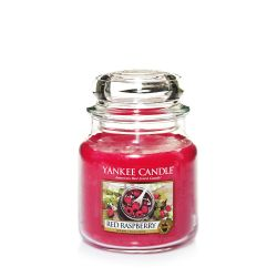 Candele profumate Yankee Candle color rosso  Red Raspberry Medium Jar online - Prezzo:   24.90 €