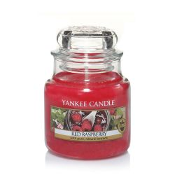 Candele profumate Yankee Candle color rosso  Red Raspberry Small Jar online - Prezzo:   11.90 €