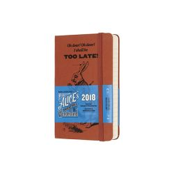 Agende Moleskine color marrone  Agenda Giornaliera Pocket 2018 Moleskine ALICE IN WONDERLAND online - Prezzo:   19.90 €