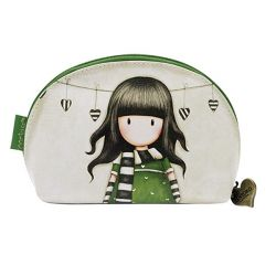 Beauty case Gorjuss color verde  Mini beauty case The Scarf online - Prezzo:   18.90 €