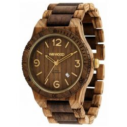 Orologi in legno Wewood  color marrone  ALPHA SW zebrano choco rough online - Prezzo:   119.00 €