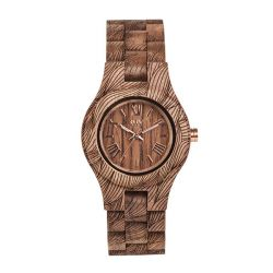 Orologi WeWOOD color marrone  CRISS WAVES nut rough online - Prezzo:   99.95 €