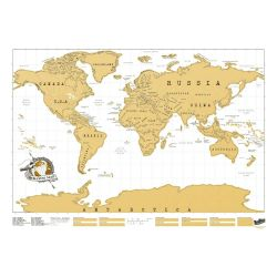 Mappamondi Scratch Map color oro  Scratch Map Original online - Prezzo:   29.90 €