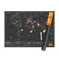 Mappamondi Scratch Map color nero  Scratch Map Chalk Edition online - Prezzo:   34.90 €