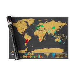 Mappamondi Scratch Map color nero  Scratch Map Deluxe Edition online - Prezzo:   34.90 €