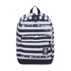 Zaino Invicta color bianco e nero  Carlson Backpack Fantasy Black Striped Forest online - Prezzo:   48.00 €
