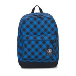 Zaino Invicta color blu e nero  Carlson Backpack Fantasy Blue Plaid online - Prezzo:   33.60 €