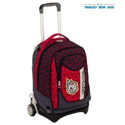 Trolley Seven color rosso  Trolley New Jack DICE BOY online - Prezzo:   95.90 €