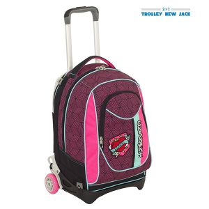 Trolley Seven color rosa  Trolley New Jack REBEL GIRL online - Prezzo:   95.92 €