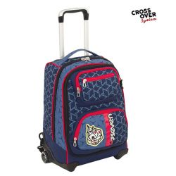 Trolley Seven color blu  Trolley Combo DICE BOY online - Prezzo:   80.43 €