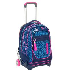 Trolley Seven color blu/rosa  Trolley NEW JACK Chrysalis online - Prezzo:   119.90 €
