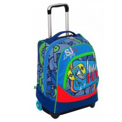 Trolley Seven color blu  Trolley BIG facce da SJ online - Prezzo:   89.90 €