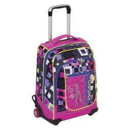 Trolley Seven color rosa  Trolley MaxiRound BUNDLE GIRL online - Prezzo:   74.13 €